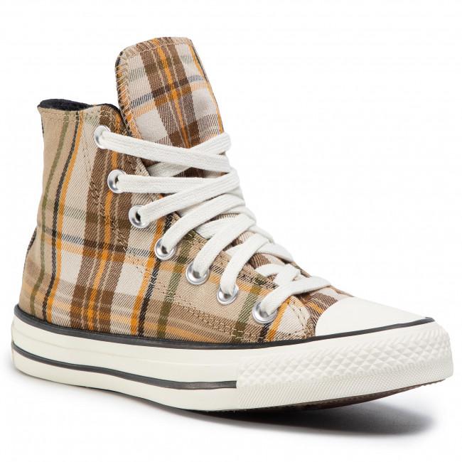 Sneakers CONVERSE - Ctas Hi 568925C Nomad Khaki/Black/Egret