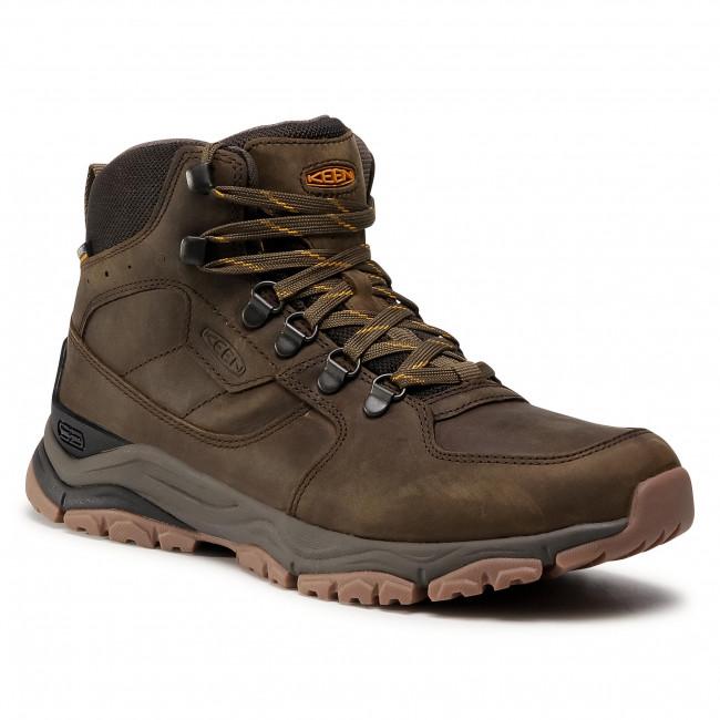 Trekker Boots KEEN - Innate Leather Mid Wp 1023446  Black Olive/Sunflower