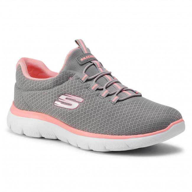 Footwear SKECHERS - Summits 12980/GYPK Gray/Pik