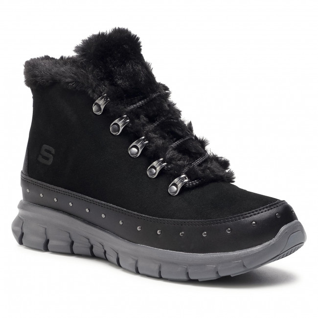 Ankle boots SKECHERS - Cozy Stud 167097/BKCC Black/Charcoal