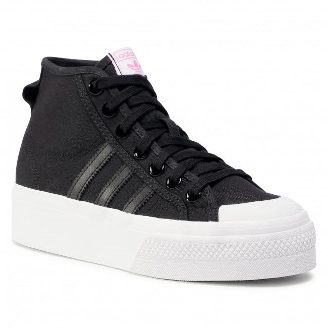 Footwear adidas - Nizza Platfrom Mid W FY7579 Cblack/Ftwwht/Scrpnk