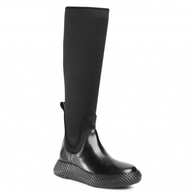 Knee High Boots EMPORIO ARMANI - X3O197 XM077 C298 Black/Black/Black