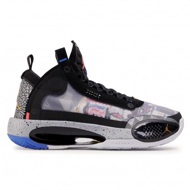 Footwear NIKE Air Jordan XXXIV Ep (Gs) CZ7742 008 BlackLaser OrangeWhite