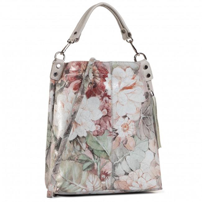 Handbag CREOLE - K10751 Beż Kwiaty