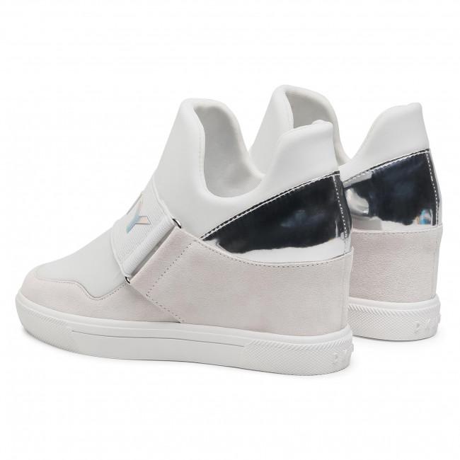 Trainers Dkny Cosmos K4081729 Nubuck Wht Silver Wtl Sneakers Low Shoes Women S Shoes Efootwear Eu