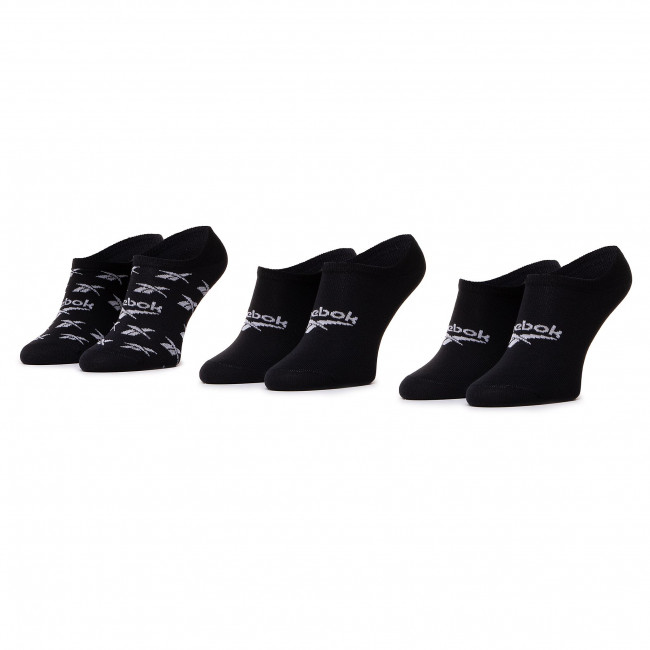 Set of 3 pairs of unisex boat socks Reebok - Cl Fo Invisible Sock 3P GG6679 Black