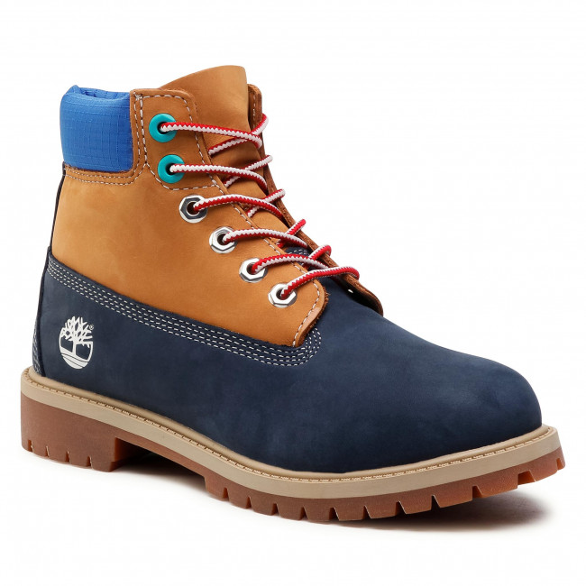 Hiking Boots TIMBERLAND - 6 In Premium Wp Boot TB0A2F3U019 Navy Nubuck