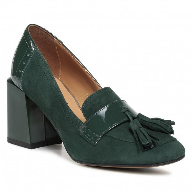 Shoes SAGAN - 4342 Zielony Welur Lakier
