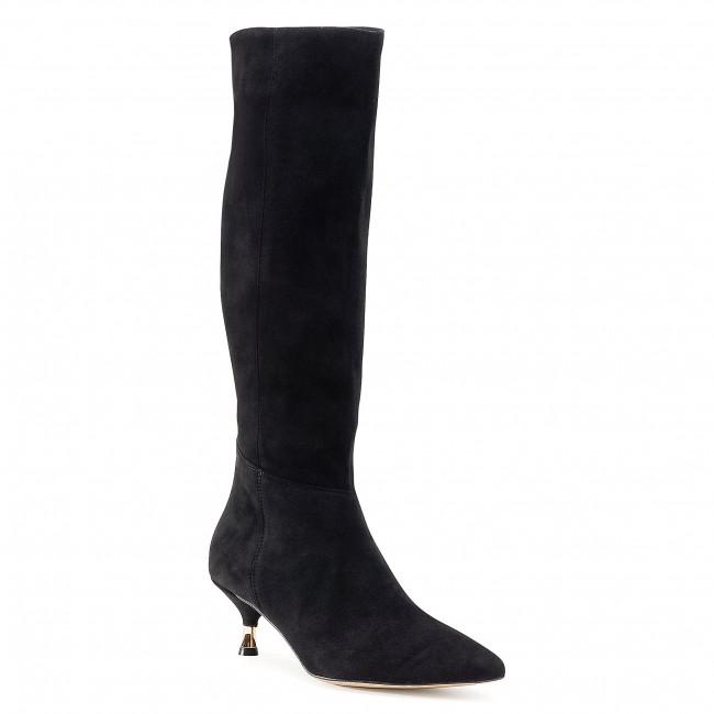 Knee High Boots R.POLAŃSKI - 1049 Czarny Zamsz