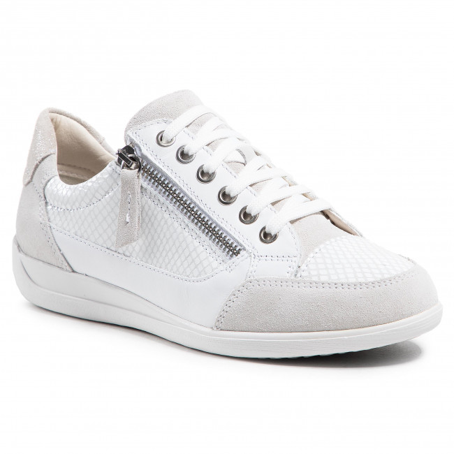 Trainers GEOX - D Myria A D6468A 02241 C1209 Off White/White