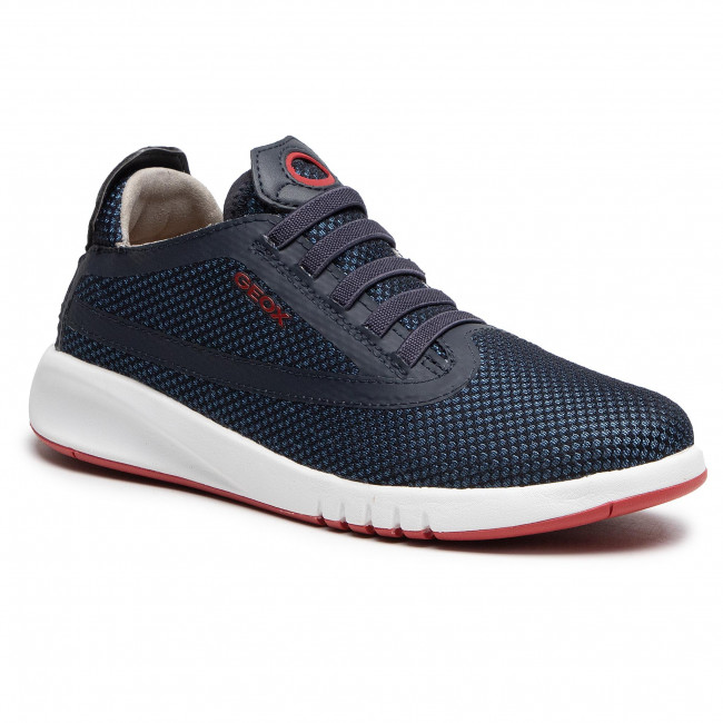Trainers GEOX - J Aeranter B. B J04BNB 03TBC C0735 D Navy/Red