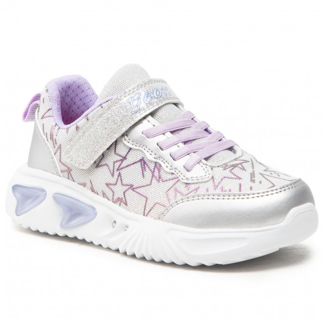 Trainers GEOX - J Assister G. A J15E9A 0GFKN C1316 D Silver/Lilac