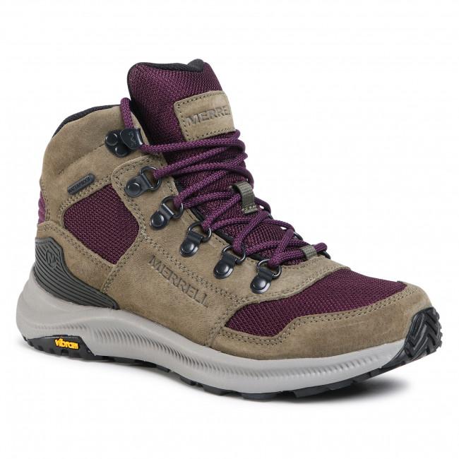 Trekker Boots MERRELL - Ontario 85 Mesh Mid Wp J035168 Olive/Blackberry