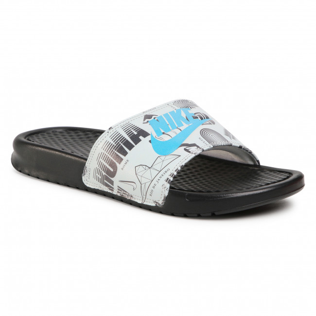 Slides NIKE -  Benassi Jdi Print 631261 041 Black/Blue Fury/Summit White