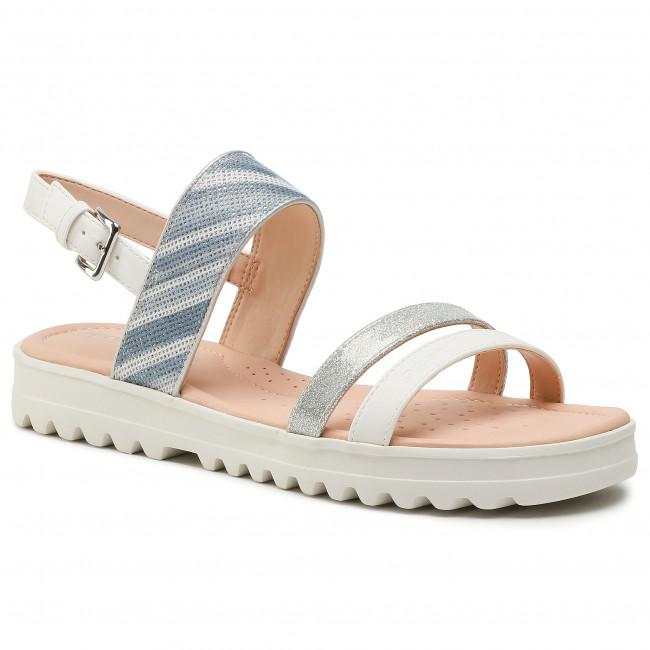Sandals GEOX - J S.Coralie G. F  J026EF 054AS C0007 D White/Silver