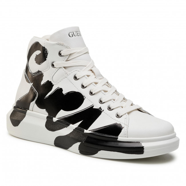 Trainers GUESS - Salerno Mid FM5SLM LEA12 WHITE