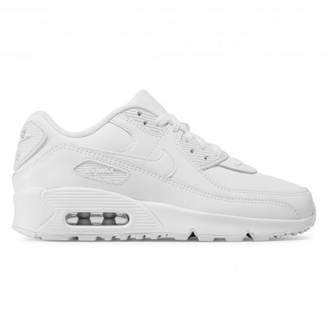 Footwear NIKE - Air Max 90 Ltr (GS) CD6864 100 White/White/Metallic Silver