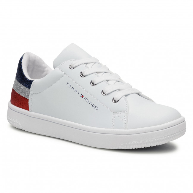 Trainers TOMMY HILFIGER - Low Cut Lace-Up T3A4-31019-1161 S White/Multicolor X256