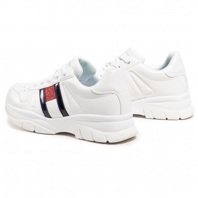 Tommy Hilfiger Damenschuhe Sneaker Low Cut Lace-Up Synthetik Schnürsenkel T3A430