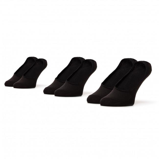 Set of 3 pairs of unisex boat socks LEE COOPER - Invsocks 1802 Black