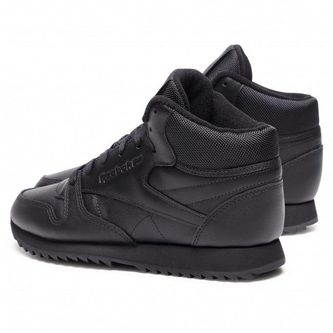 Metropolitano Destello Sucediendo  Footwear Reebok - Cl Lthr Mid Ripple FZ4762 Black/Black/Black - Sneakers -  Low shoes - Women's shoes | efootwear.eu