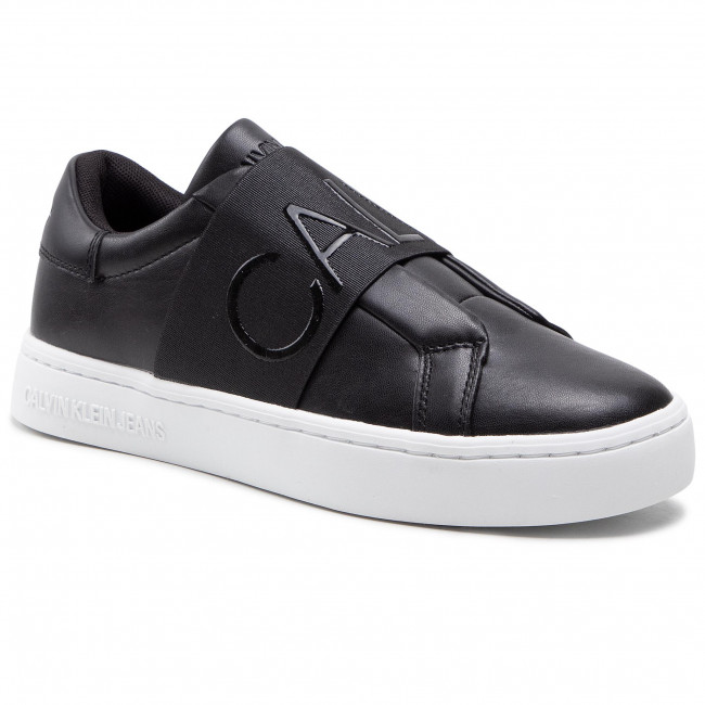 Trainers CALVIN KLEIN JEANS - Cupsole Slipon Elastic Lth YW0YW00160 Black BDS