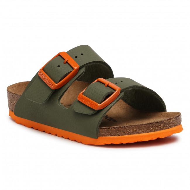 Slides BIRKENSTOCK - Arizona Kids 1019451 Desert Soil Moss Green/Orange