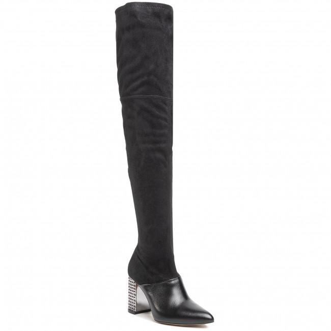 Over-Knee Boots R.POLAŃSKI - 1220 Czarny Lico/Czarny Zamsz