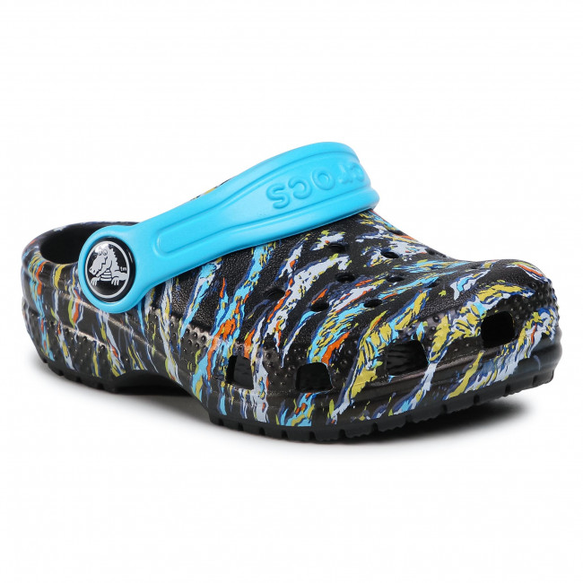 Slides CROCS - Classic Graphic Clog K 204816 Black