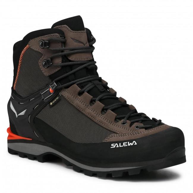 Trekker Boots SALEWA - Ms Crow Gtx GORE-TEX 7512 Wallnut/Fluo Orange