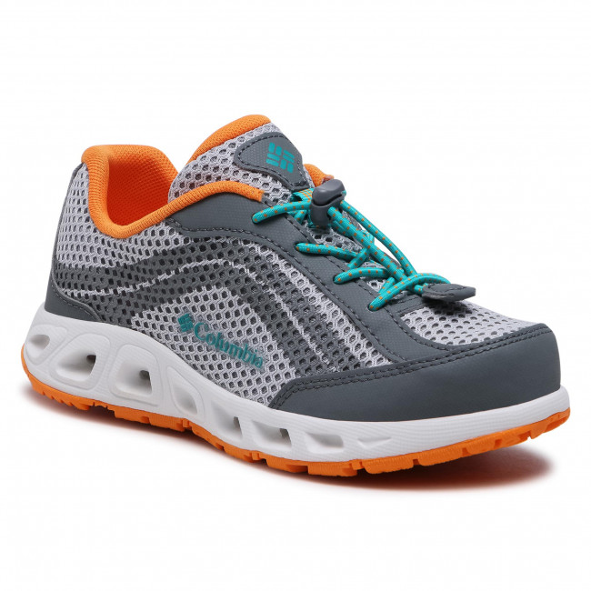Trekker Boots COLUMBIA - Youth Drainmaker IV BY1091 Grey/Ice/Tropic Water