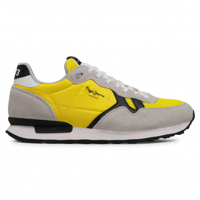 Trainers Pepe Jeans Britt Man Basic Pms30721 Yellow 097 Sneakers Low Shoes Men S Shoes Efootwear Eu