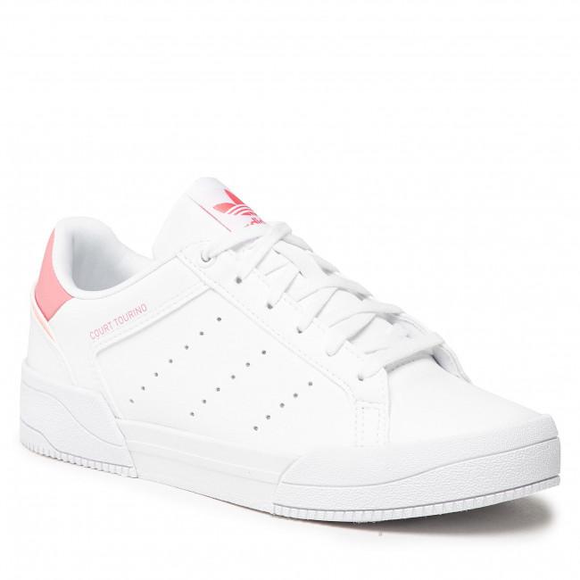 Footwear adidas - Court Tourino J H00765 Ftwwht/Ftwwht/Hazros
