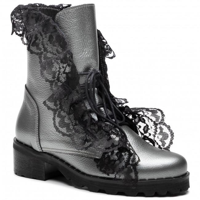 Ankle boots R.POLAŃSKI - 0890 Srebrny Lico
