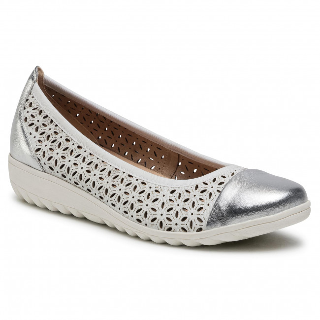 Flats CAPRICE - 9-22153-26 White/Silver 191