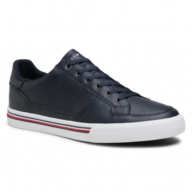 Trainers TOMMY HILFIGER - Core Corporate Leather Sneaker FM0FM03393 Desert Sky DW5