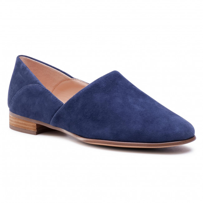 Perdóneme garaje Chimenea  Shoes CLARKS - Pure Tone 261541484 Navy Suede - Flats - Low shoes - Women's  shoes | efootwear.eu