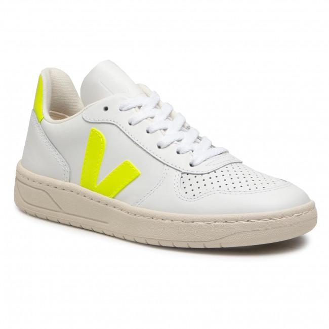 Trainers VEJA - V-10 VX022086 Extra White/Jaune Fluo
