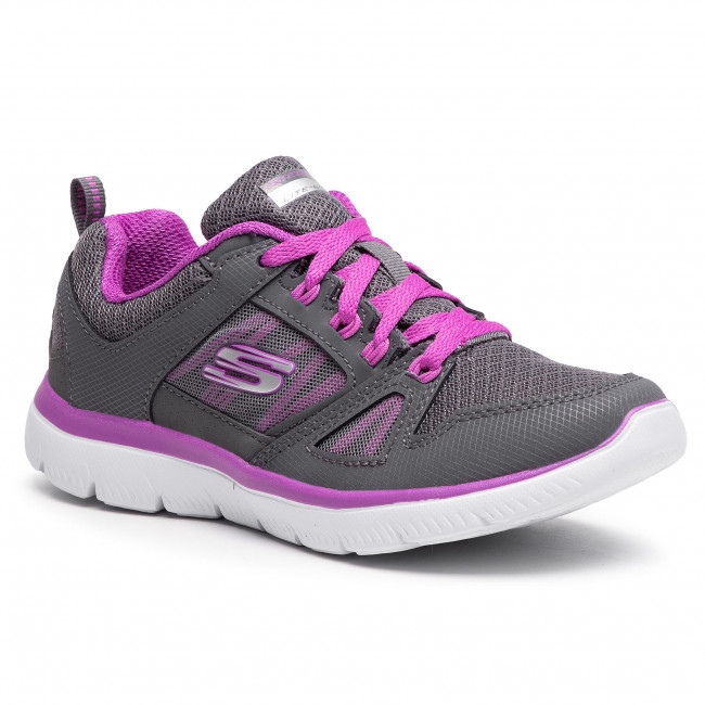Footwear SKECHERS - New World 12997/CCPR  Charcoal/Purple