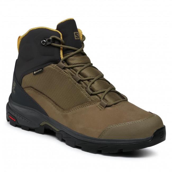 Trekker Boots SALOMON - Outward Gtx GORE-TEX 409584 27 V0 Burnt Olive/Phantom/Arrowwood