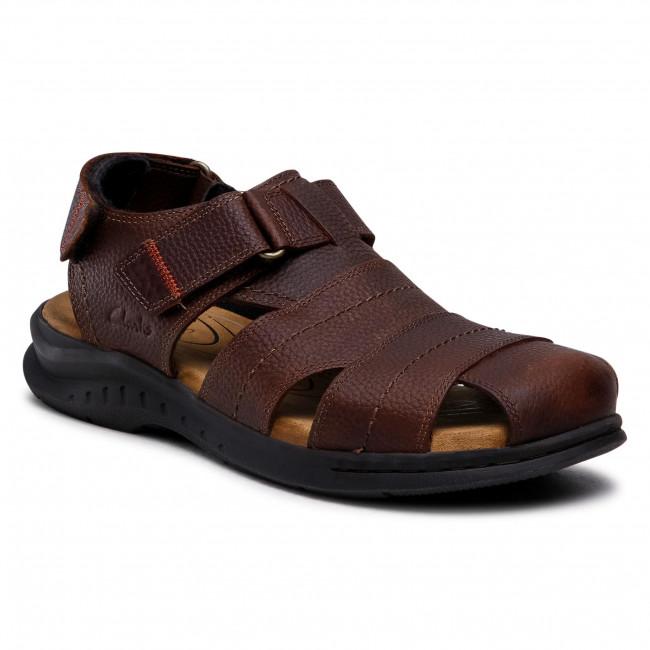 Sandals CLARKS - Hapsford Cove 261580137 Brown Tumb