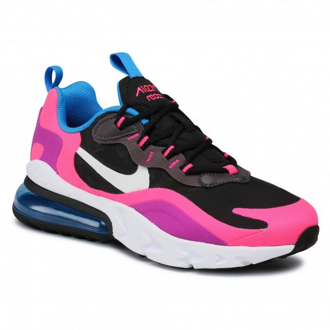 Footwear NIKE - Air Max 270 React (GS) BQ0101 001 Black/White/Hyper Pink