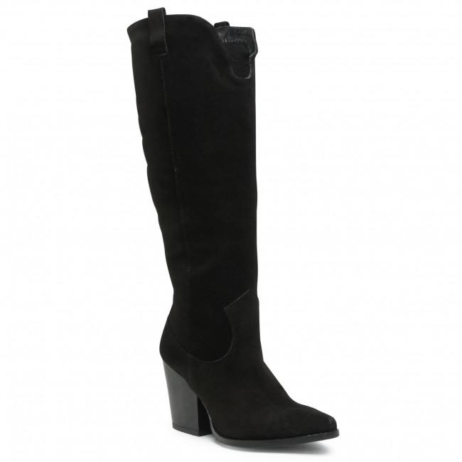 Knee High Boots KARINO - 3151/003-F Czarny Welur