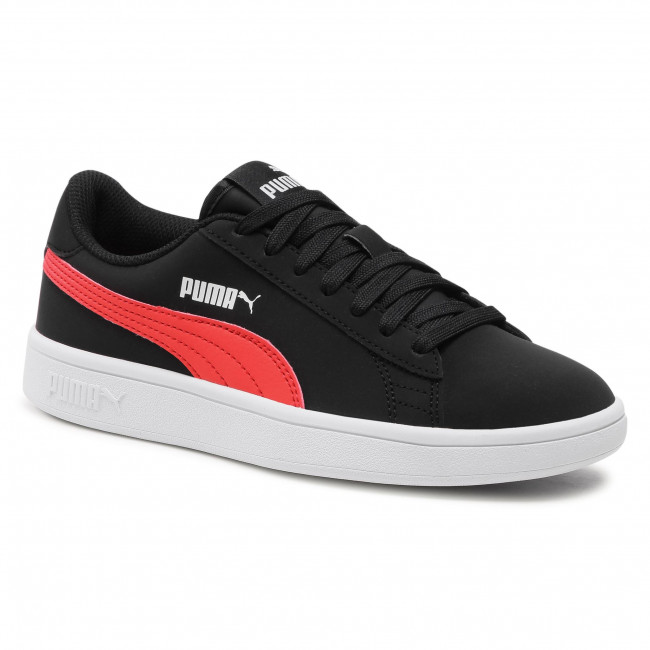 Trainers PUMA - Smash v2 Buck Jr 365182 26 Black/Poppy Red