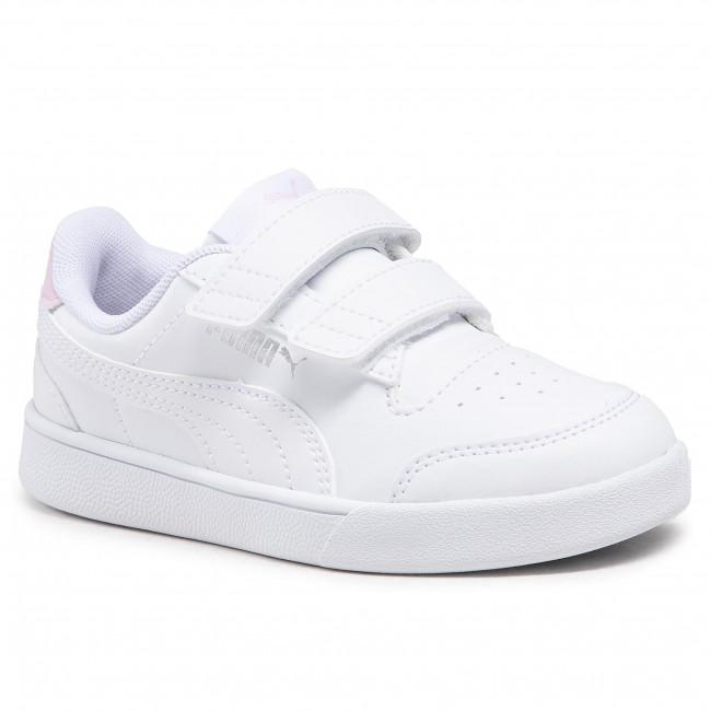 Trainers PUMA - Shuffle V Ps 375689 04 Puma White/White/Pink Lady