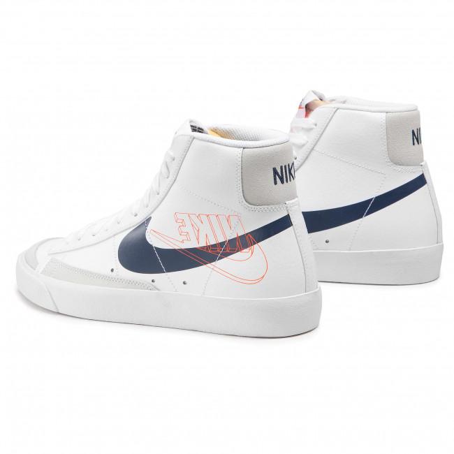 Footwear NIKE - Blazer Mid '77 DA4651 100 White/Midnight Navy/Sail