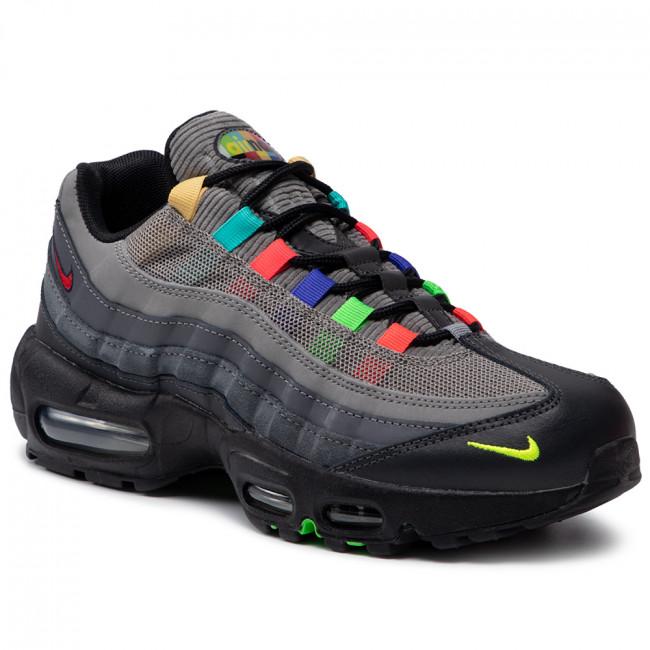 Footwear NIKE - Air Max 95 Se CW6575 001 Light Charcoal/University Red