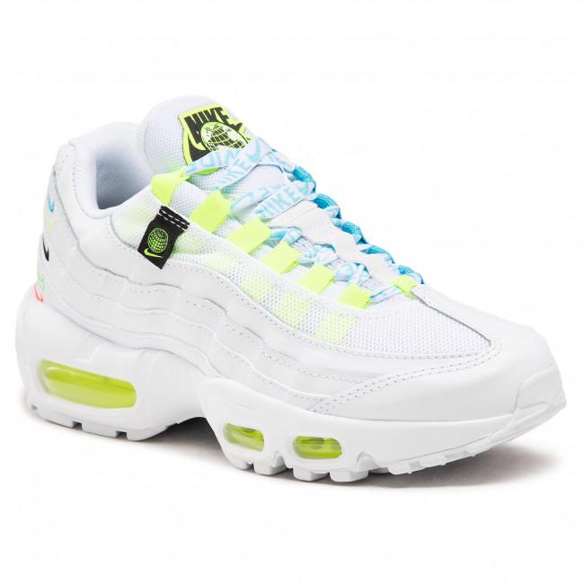 Footwear NIKE - W Air Max 95 Se Ww CV9030 100 White/White/Volt/Blue/Fury