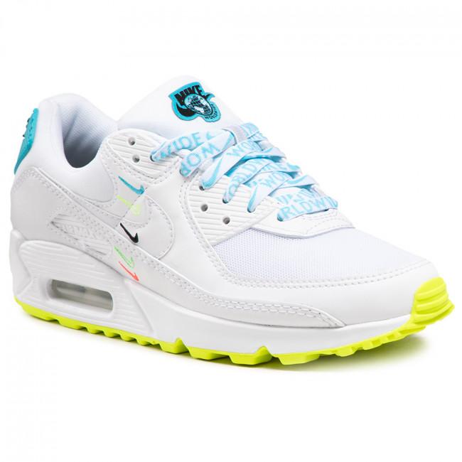 Footwear NIKE - Air Max 90 Ww CK7069 100 White/White/Blue Fury/Volt