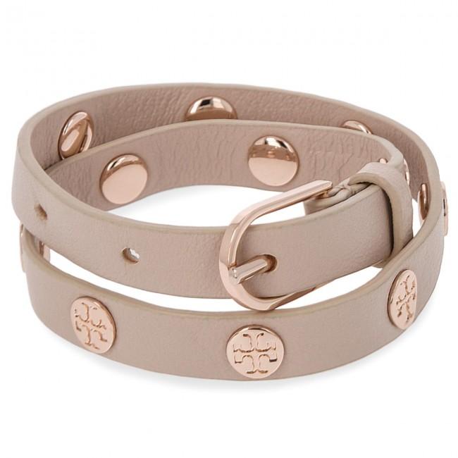 Bracelet Tory Burch Double Wrap Logo Stud 11165816 Light Oak Rose Gold 252